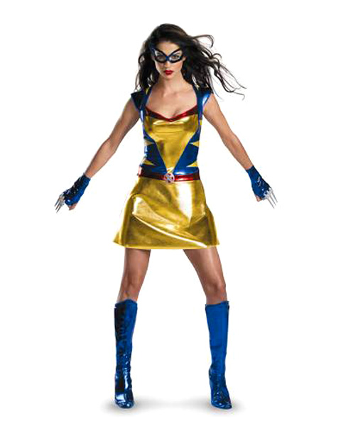 Sassy Womens Deluxe Wild Thing Wolverine Girl Costume
