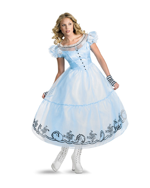 Deluxe Womens Alice In Wonderland Movie Alice Costume