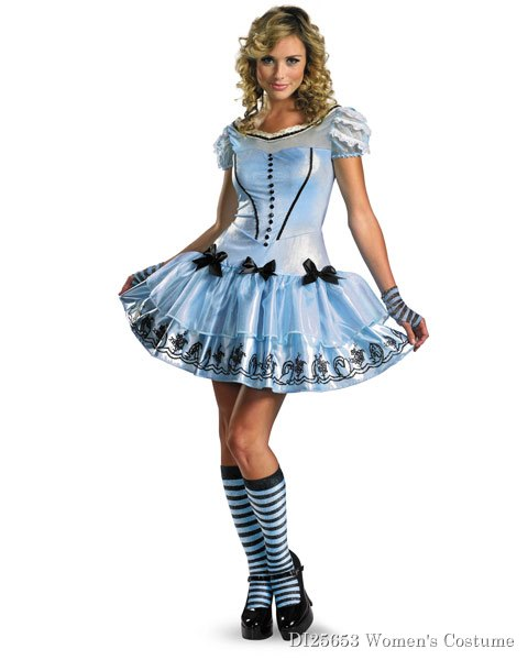 Sassy Blue Disney Alice In Wonderland Womens Costume