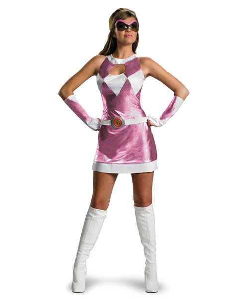 Deluxe Sassy Pink Power Ranger Womens Costume