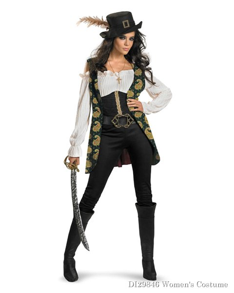 Deluxe Pirates Of The Caribbean Angelica Womens Costume