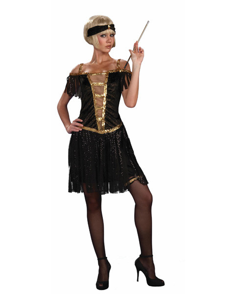Adult Golden Glamour Flapper Costume