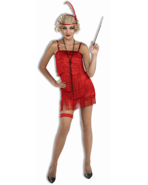 Womens Flapper Sexy Costume Red