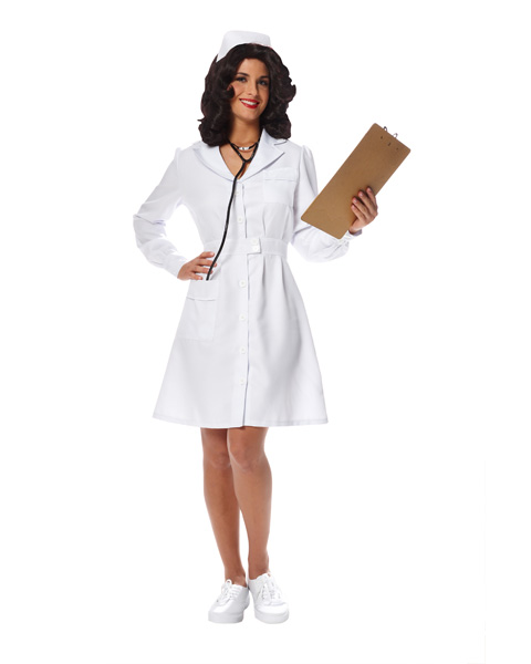 Vintage Nurse Womens Costume
