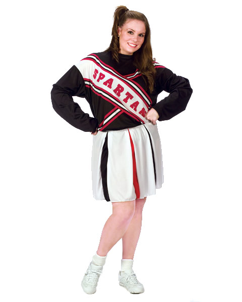 Plus Size Spartan Cheerleader Womens Costume