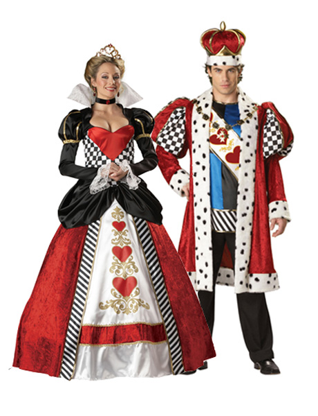 Elite Queen Of Hearts Adult Couples Costume