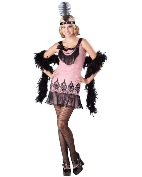 Teen Flirty Flapper Womens Costume