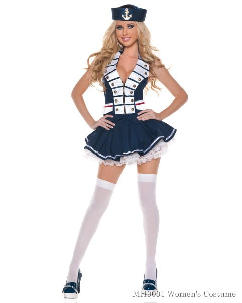 Sexy White Navy Womens Sailor Costume