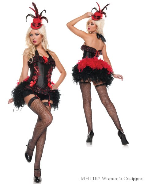 Deluxe Sexy Moulin Rouge Womens Costume