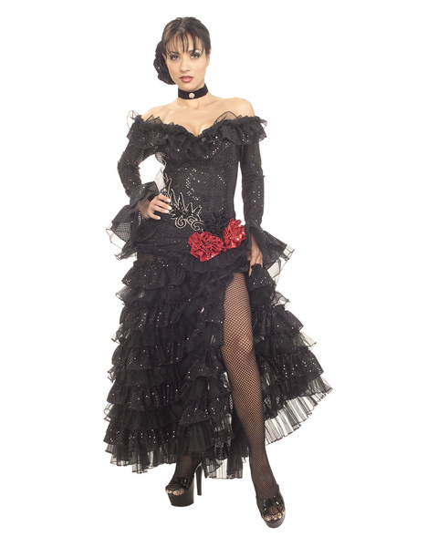 Senorita Costume in Black for Adults