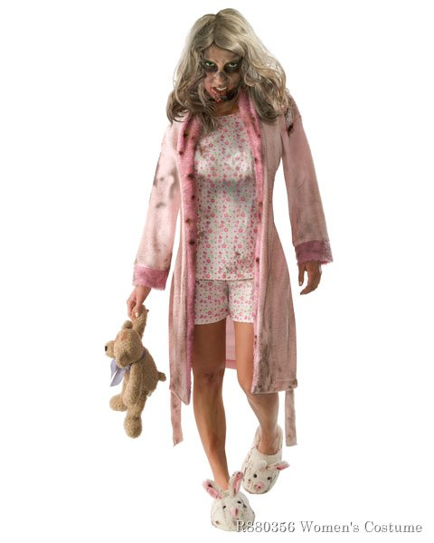 Walking Dead Little Girl Zombie Pajamas Costume Adult