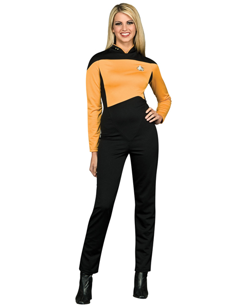 Star Trek TNG Adult Black and Gold Jumpsuit