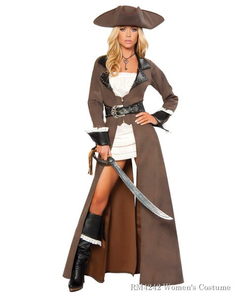 Sexy Deluxe Pirate Captain Women's Costume