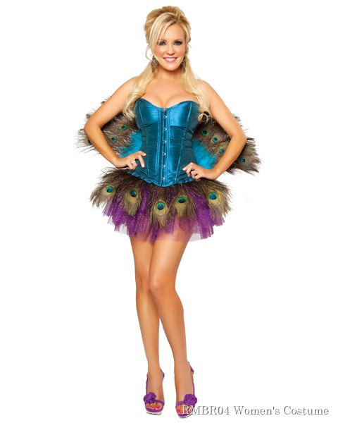 Deluxe Sexy Bridget by Roma Peachick Women's Peacock Costume