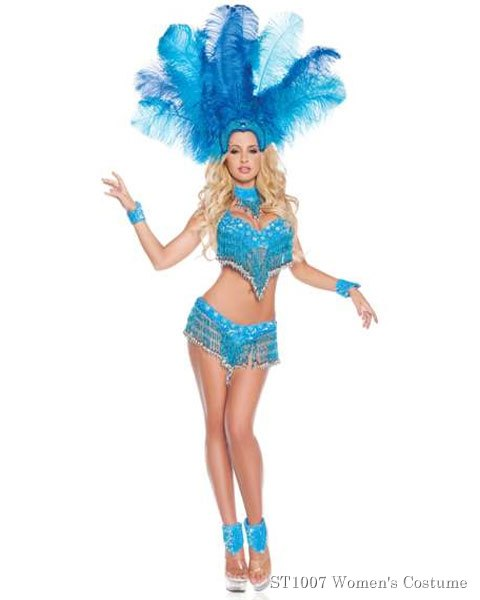 Deluxe Sexy Brazilian Show Girl Womens Costume