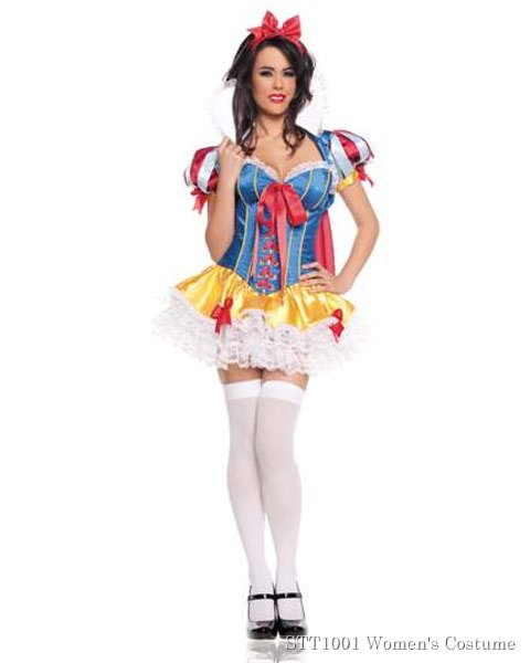 Deluxe Sexy Snow White Womens Costume