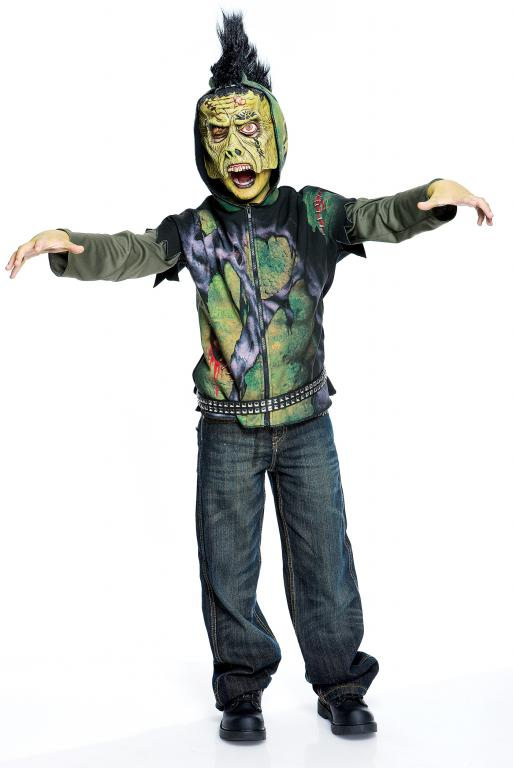 Creature Short Sleeve Hoodie Child Costume Large