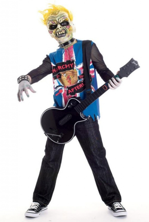 Zombie Icons Punk Rawk Child Costume 10-12